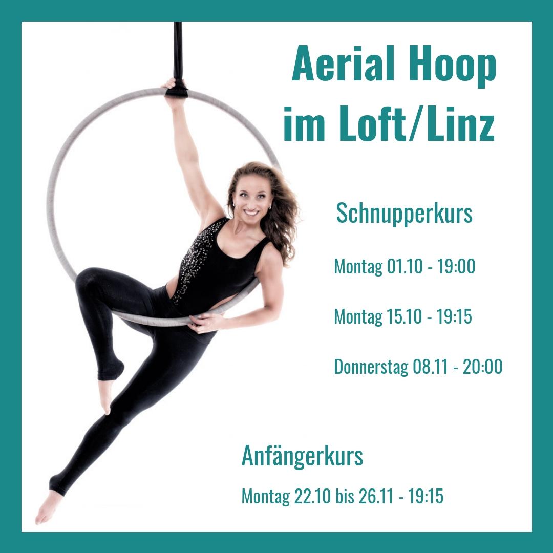 Aerial Hoop – Neue Anfängerkurse & Doubles Workshop im Herbst!